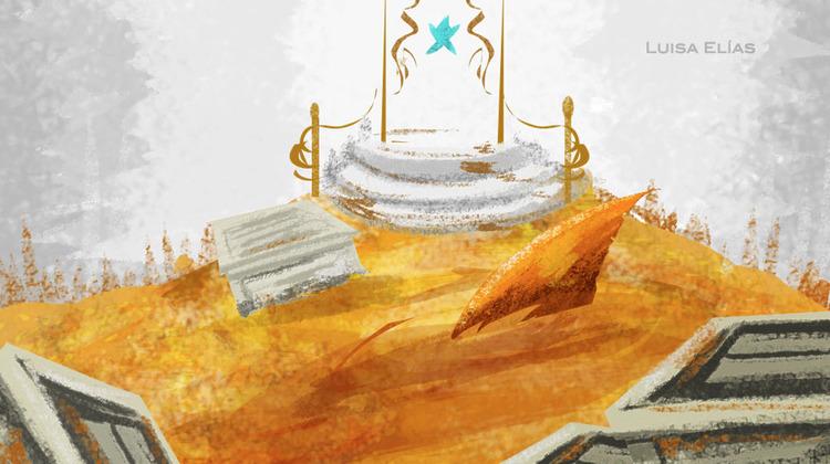 """Gold room"" Starfish (2013) // Digital Painting"