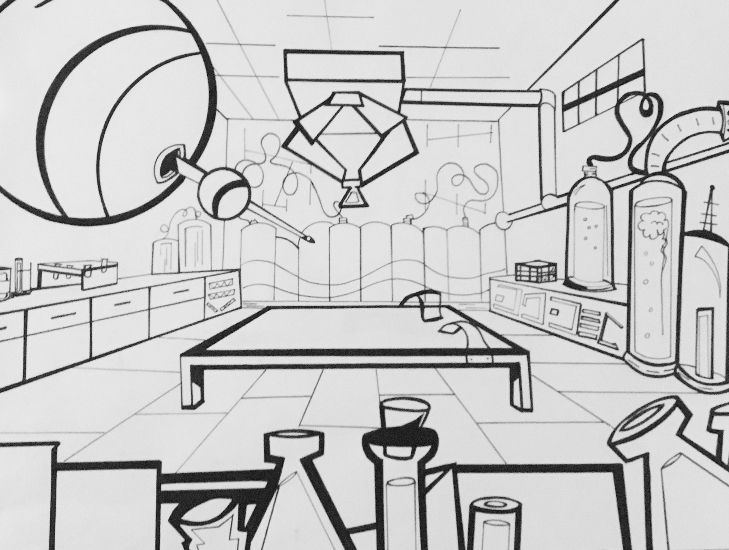 Laboratory - Ink and paper - Classical Animation 2012