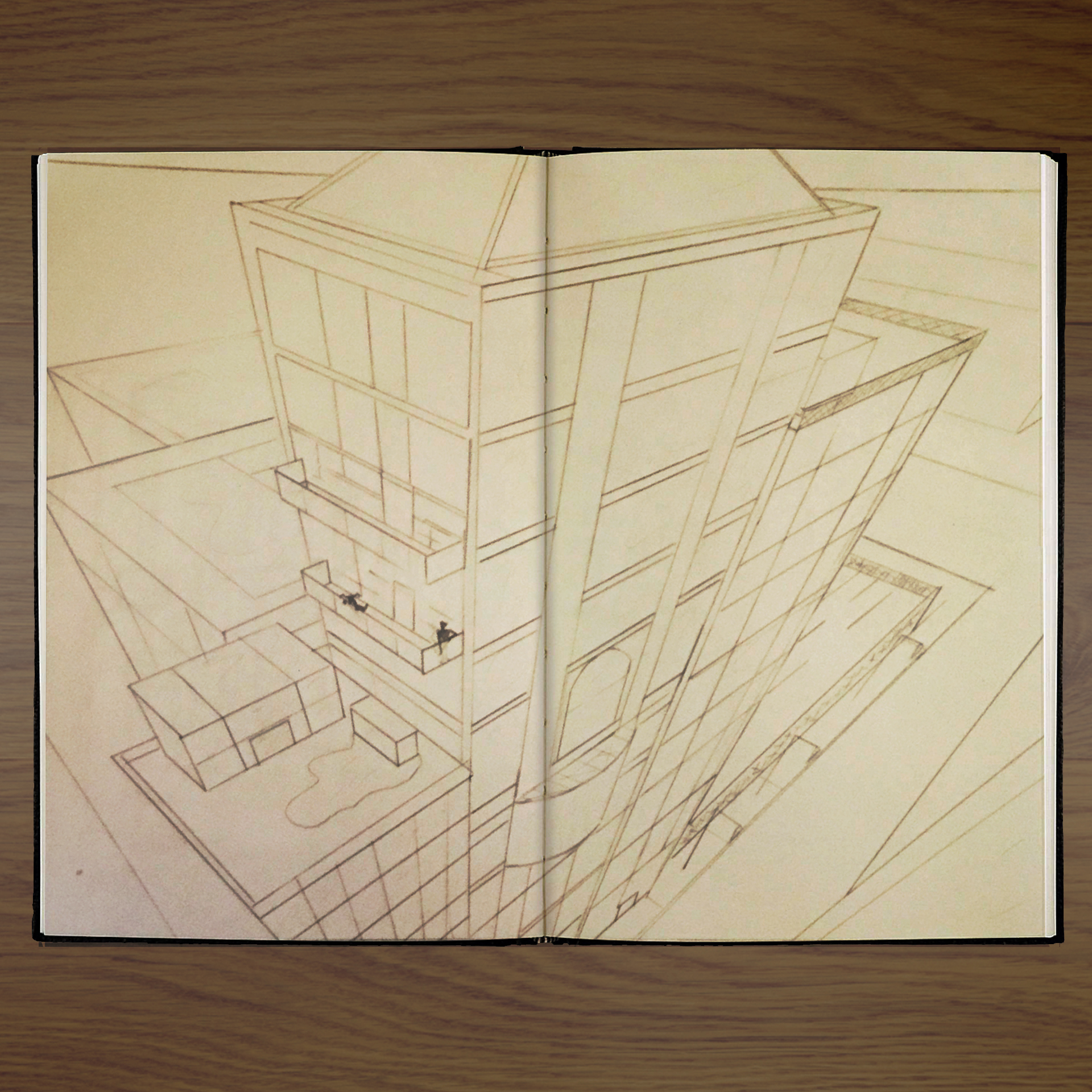 Perspective Drawing - Pencil