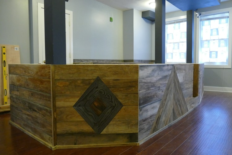 Custom Wooden Counter - - Evermore Coffee Roasters