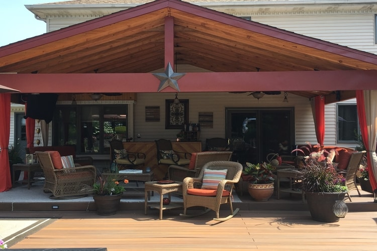 Porch - -with custom woodwork