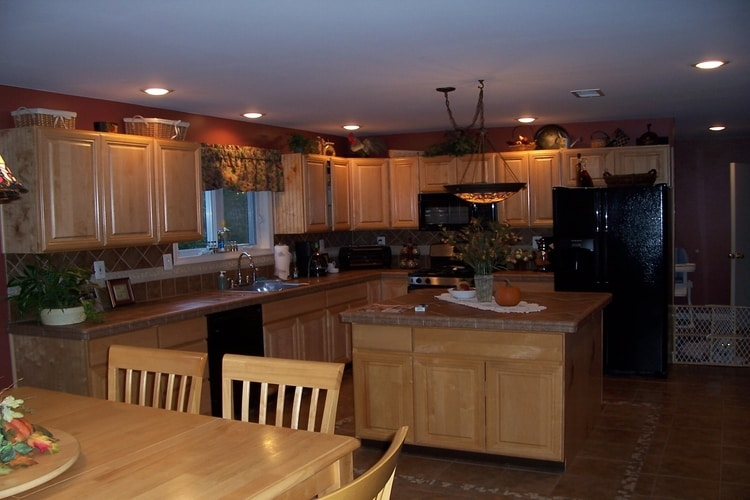 Kitchen Face Lift - - Flooring, counter tops and back splash- Chesterfield