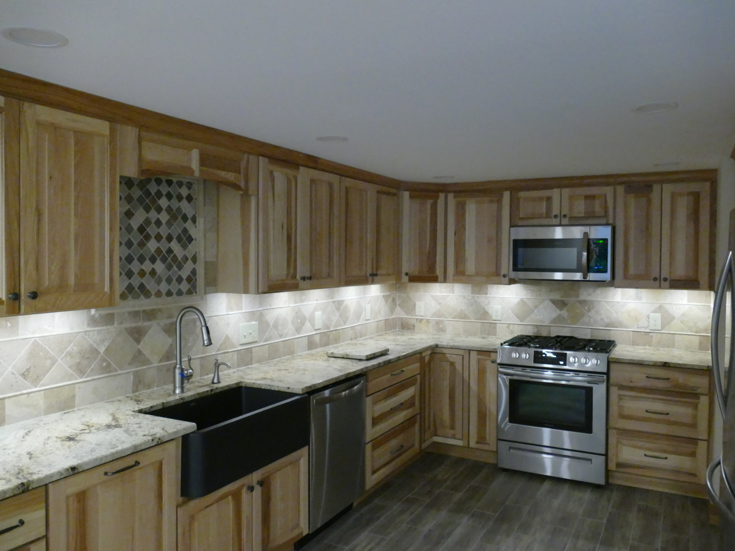 Kitchen Remodel - - Cabinets, back splash, counters, appliances