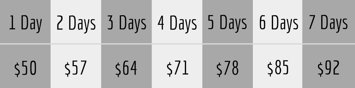 studio boise photography lens rental pricing