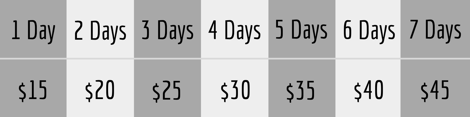 studio boise camera rental pricing