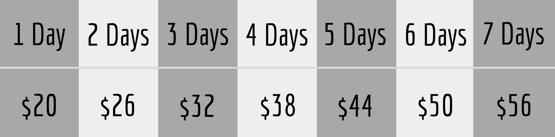 Studio Boise Photography Center lens rental prices