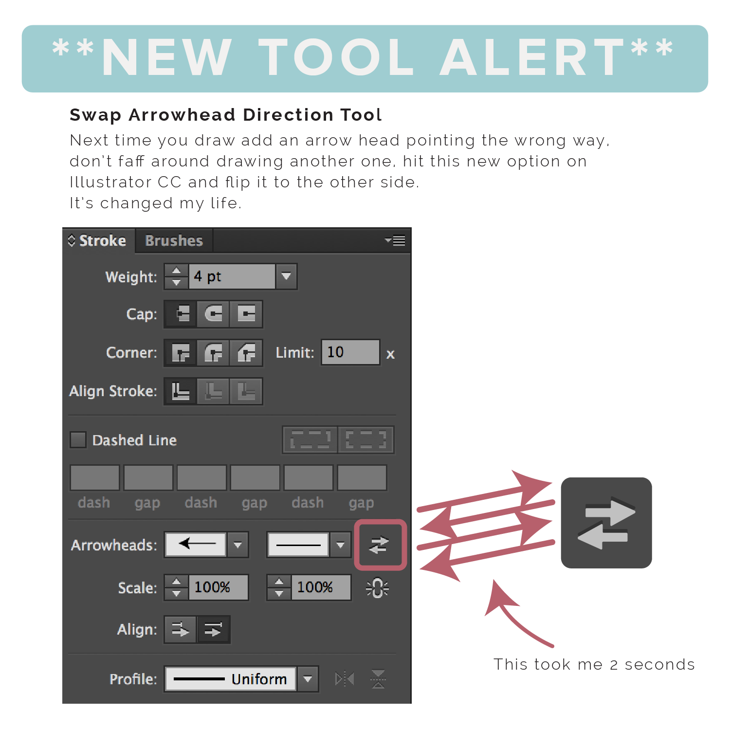 Swap Arrowhead Direction Tool