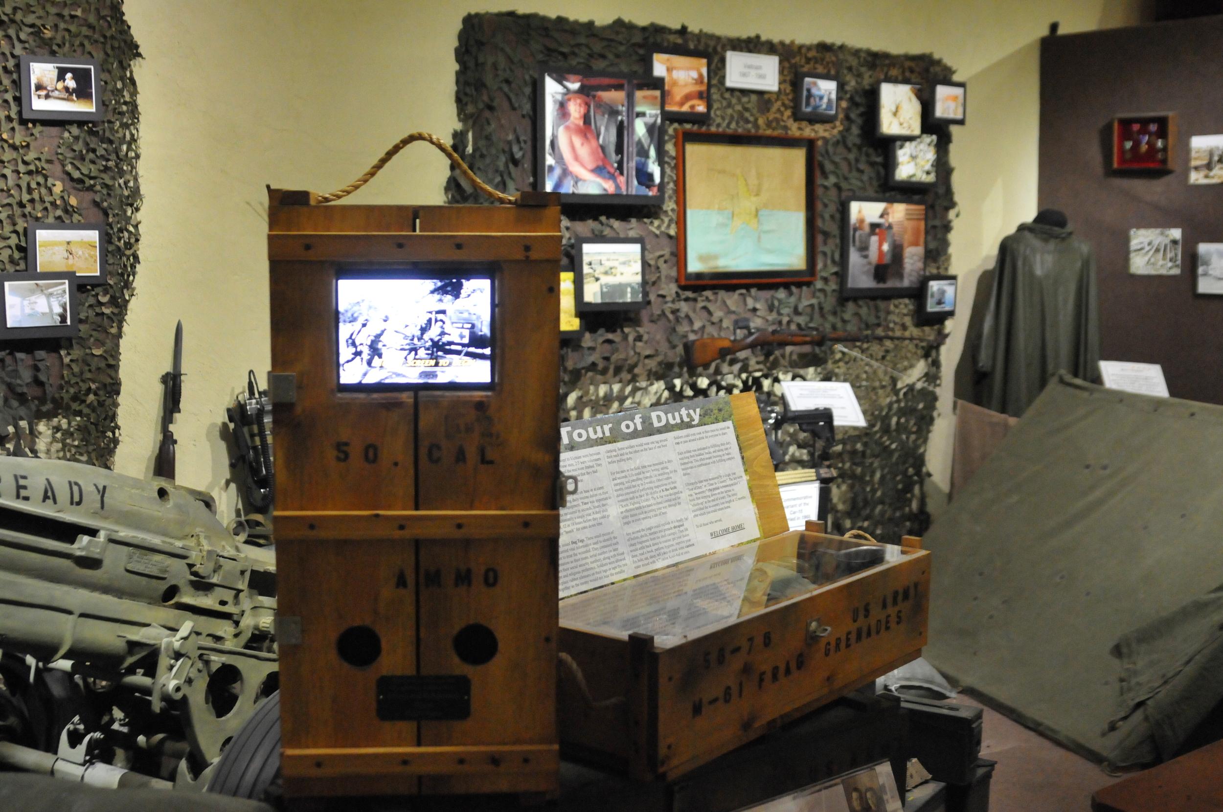 Vietnam interactive Kiosk and exhibit by Warren Martin