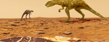 What we might, and by might I mean definitely, find on the Martian surface.