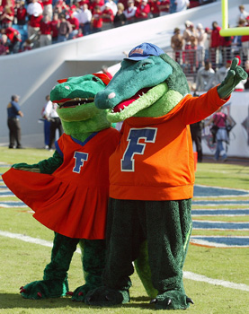 Those mascots look a little close for the state of Florida...