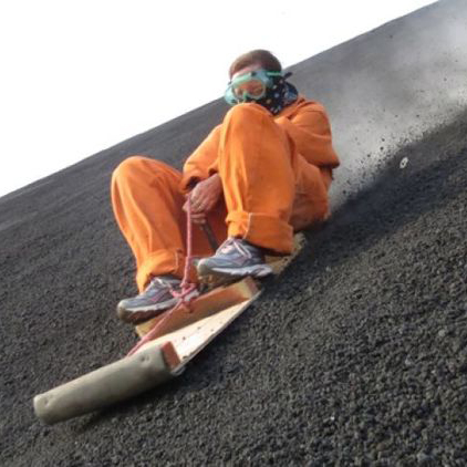 It's important to wait for the lava to cool first, obviously.