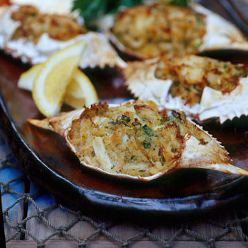 """When we came up with the theme we may have forgotten that """"deviled crab"""" is a dish..."""