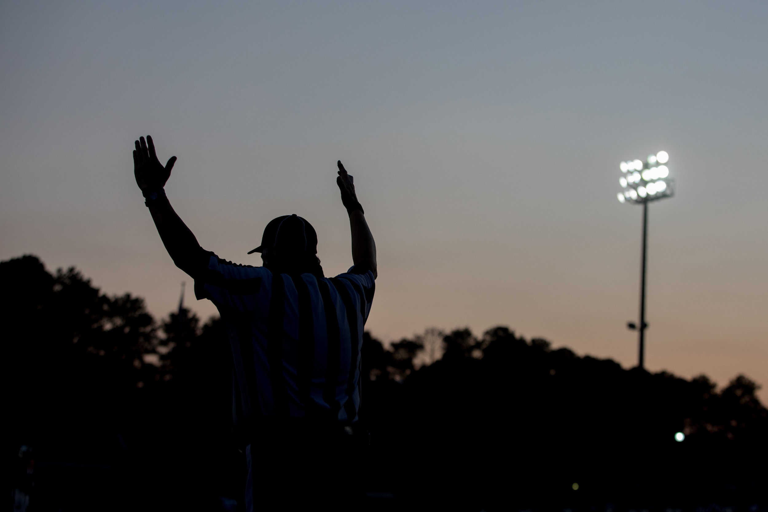 A referee signals good on a kick by Greater Atlanta Christian during a high school football game against Valor Christian of Colorado, Friday, Sept. 8, 2017, in Norcross, Ga. Branden Camp for The AJC
