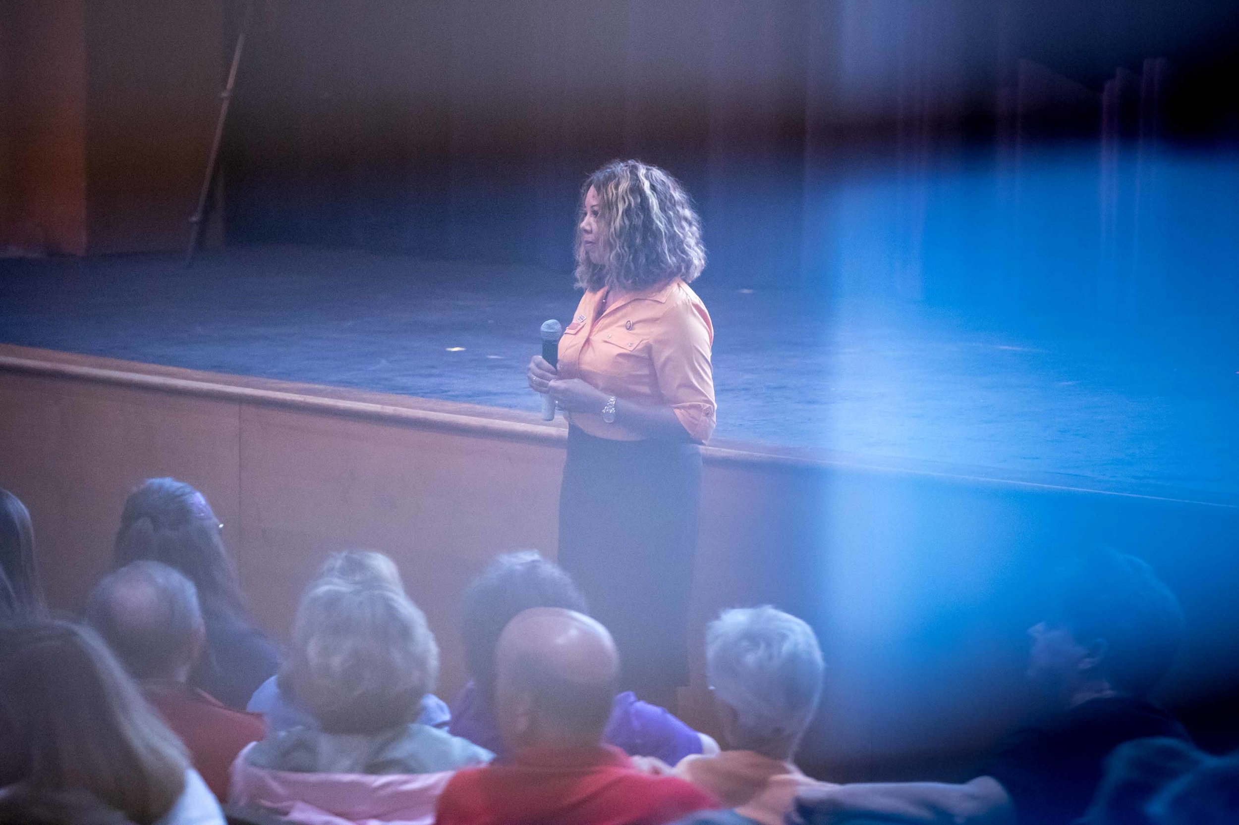 Rep. Lucy McBath, D-Ga., speaks during a town hall at Dunwoody High School on Saturday, June 8, 2019 in Dunwoody, Ga. Branden Camp for AJC