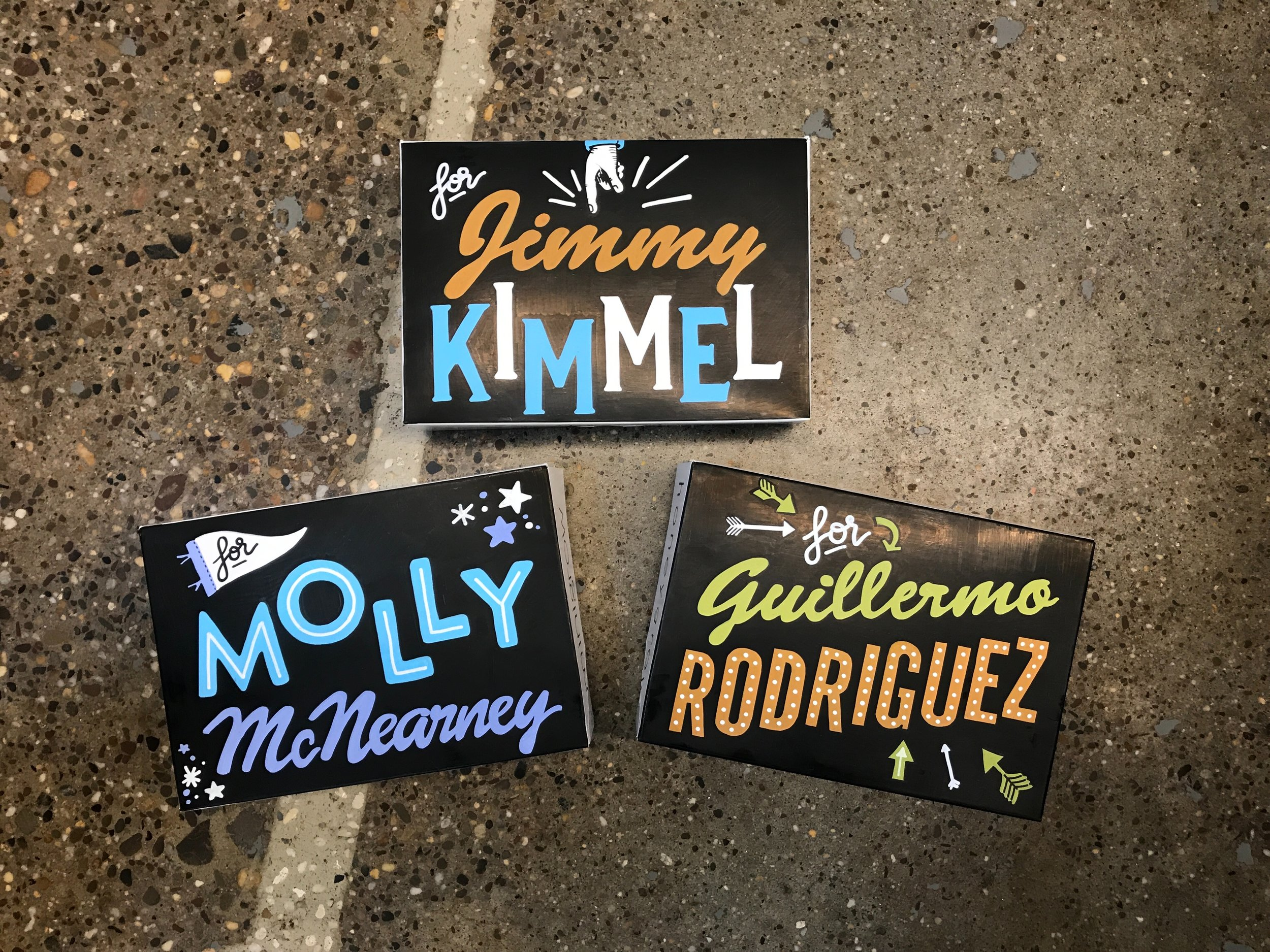 Hand Illustrated Boxes for Jimmy Kimmel Team