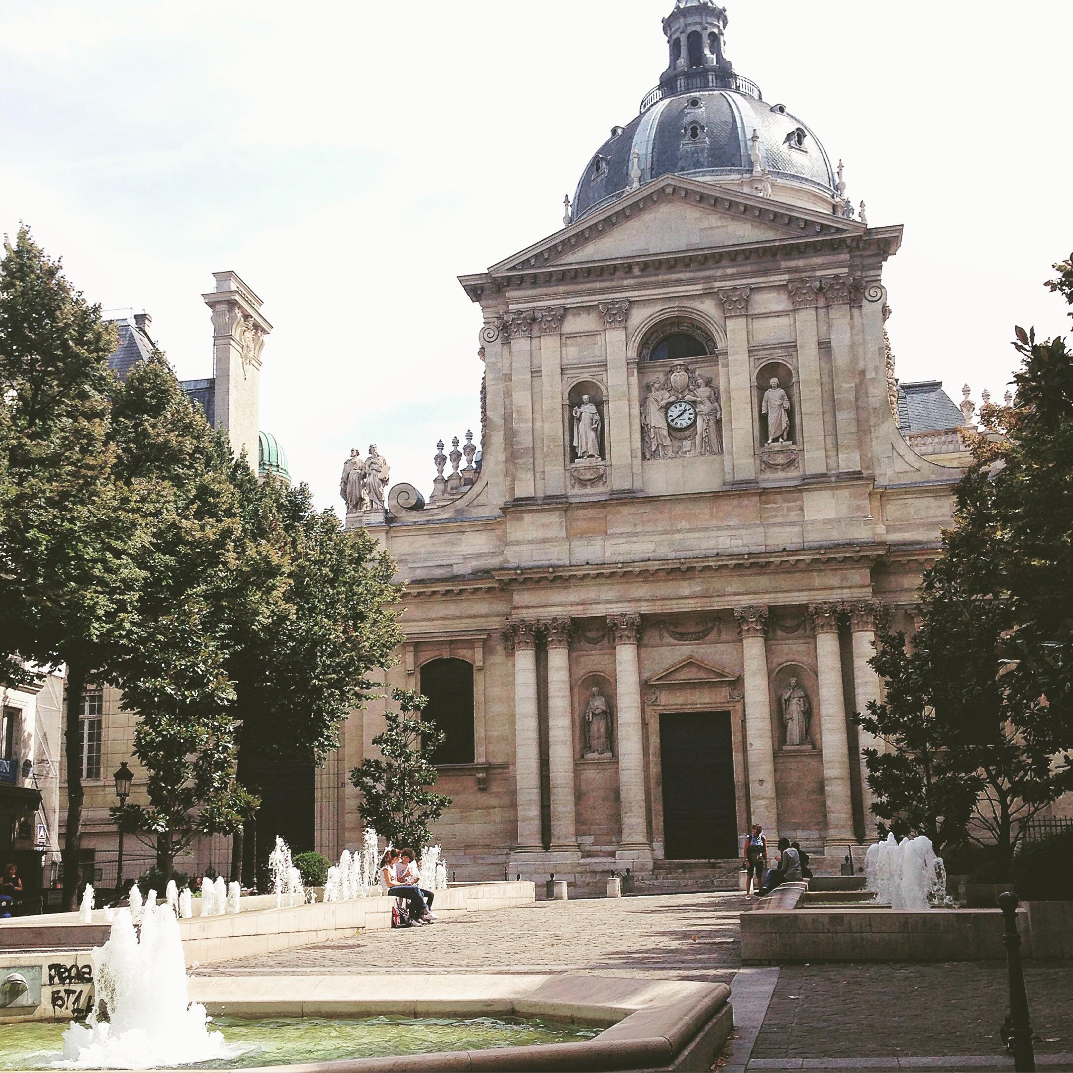 The square at Sorbonne. Paris