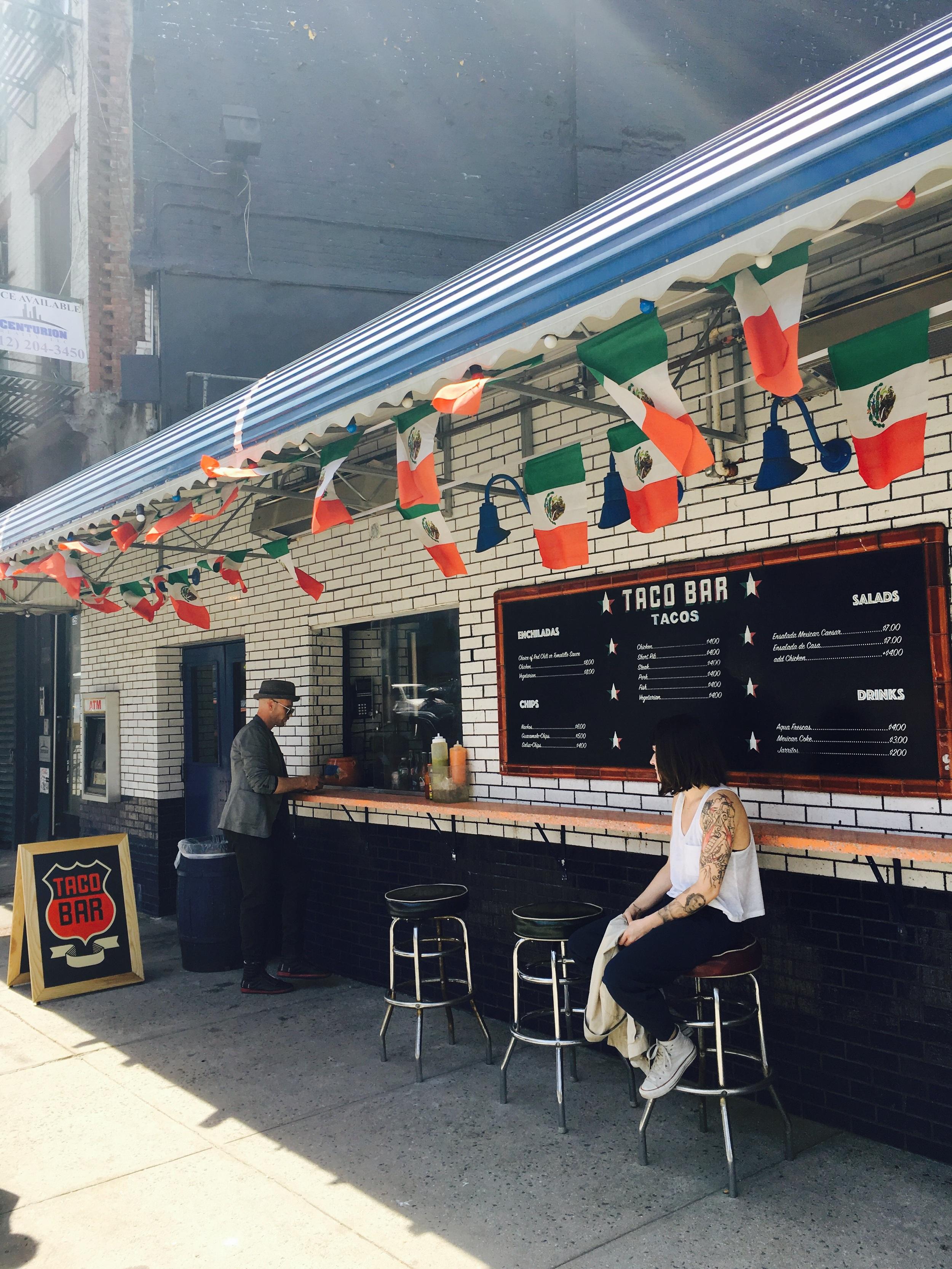 The Taco patio at B Bar Café. Bowery.