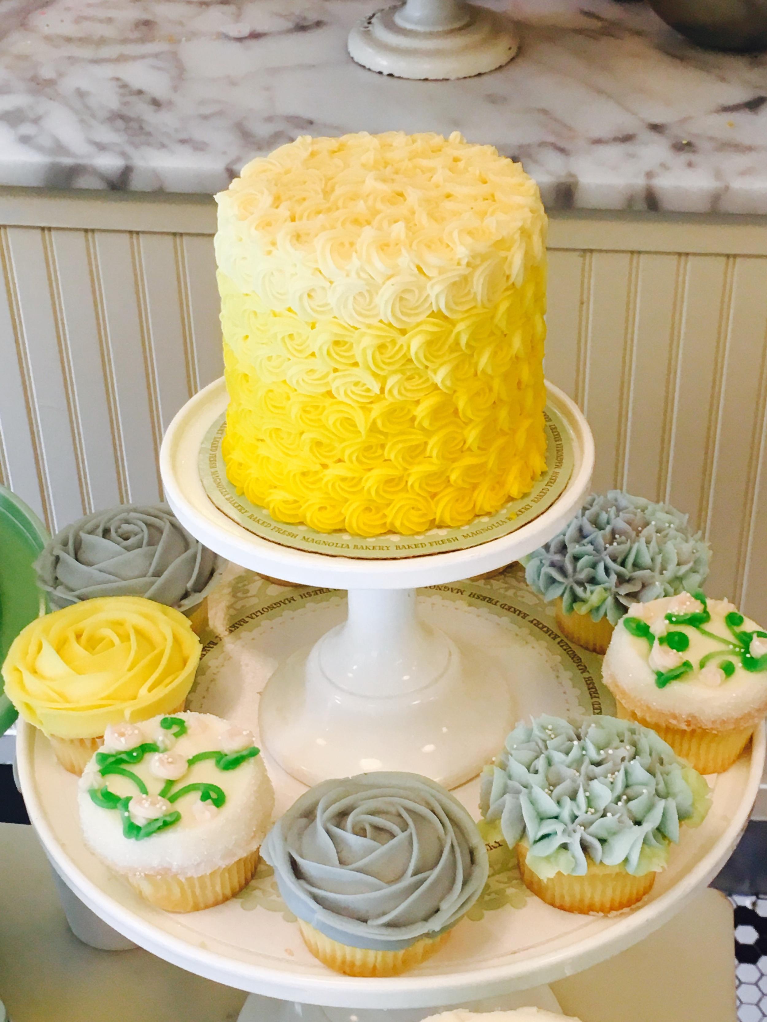 Perfect colour pallets on vanilla cakes