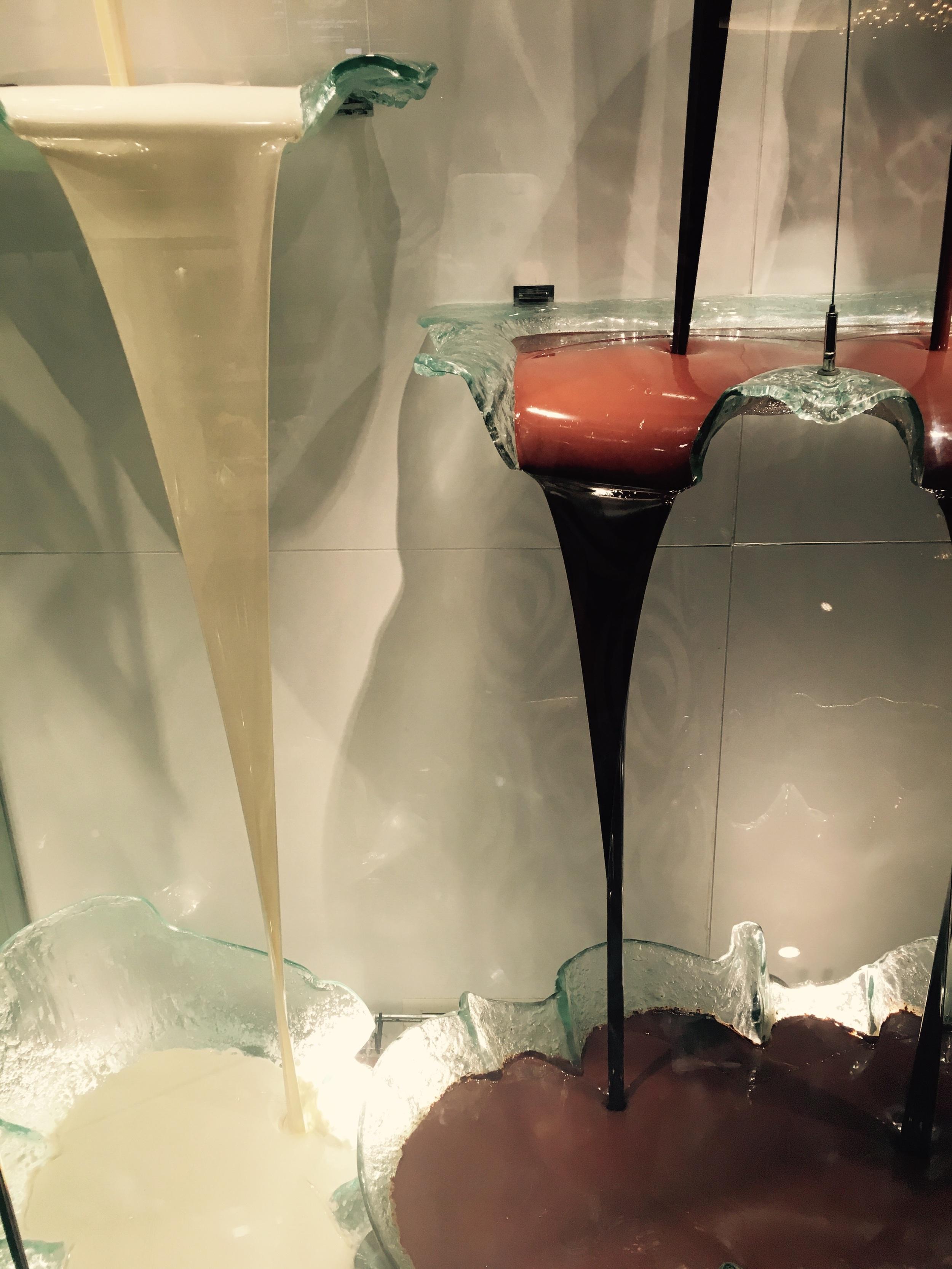 White, milk and dark chocolate collide!