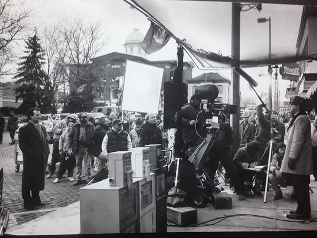 Behind the scenes of the #groundhogday film. See if you can spot @johnlroman before checking the tag! #groundhogdaymovie