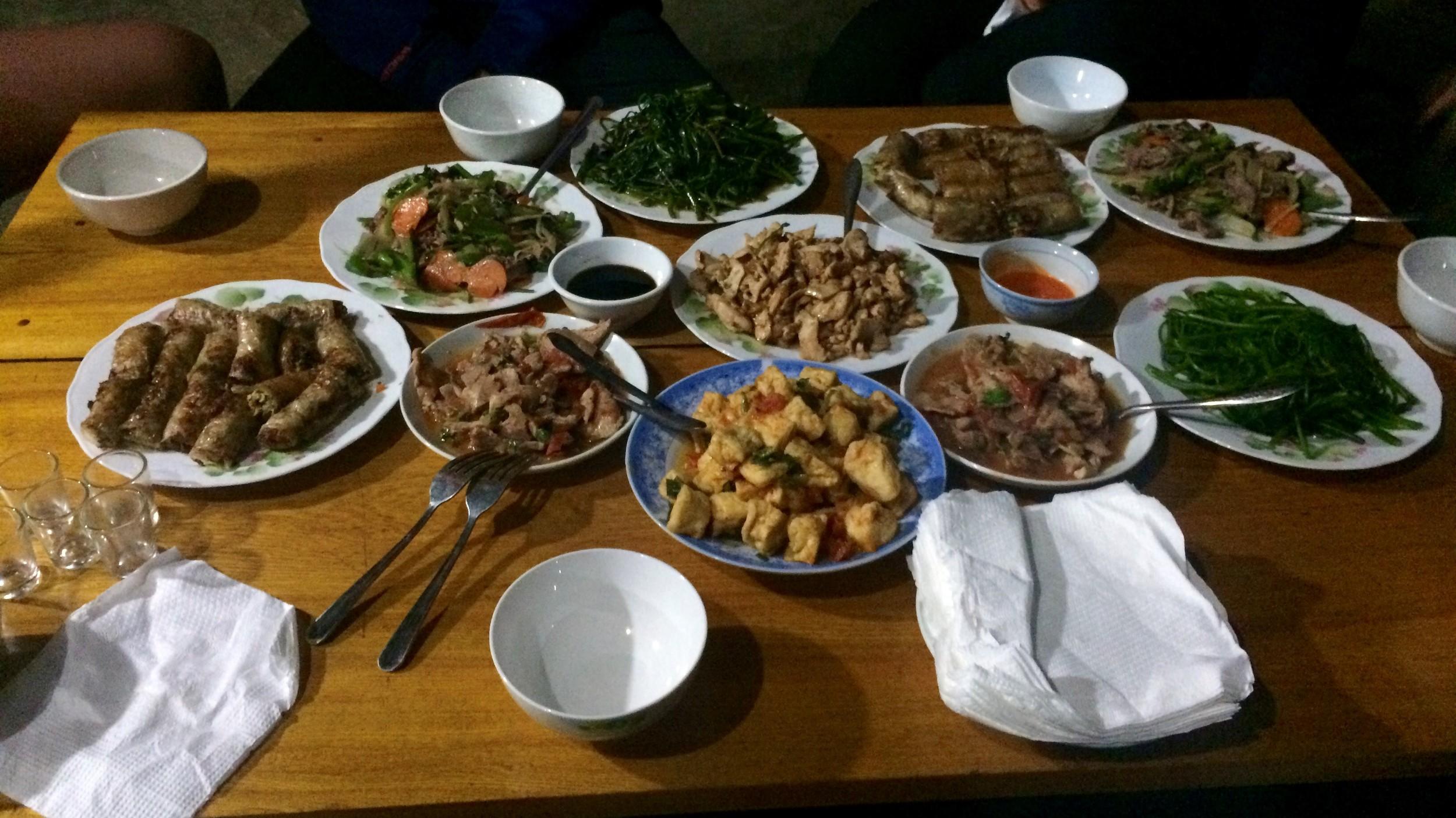 Dinner in Ta Van homestay.