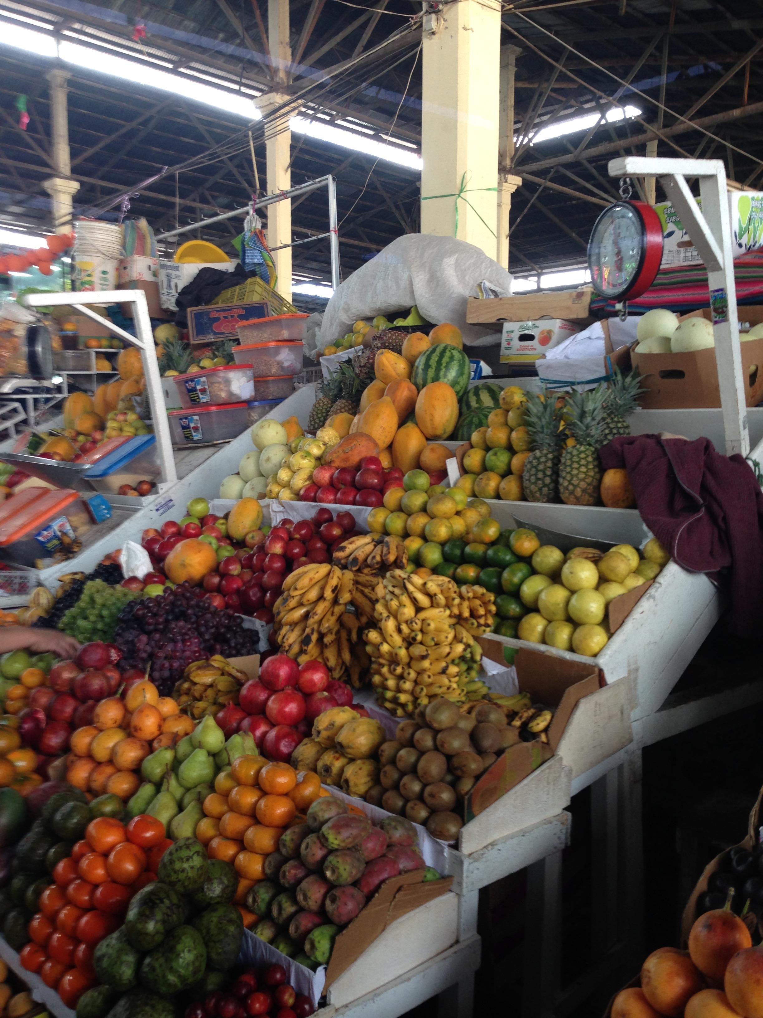Fresh produce for sale in Cuzco