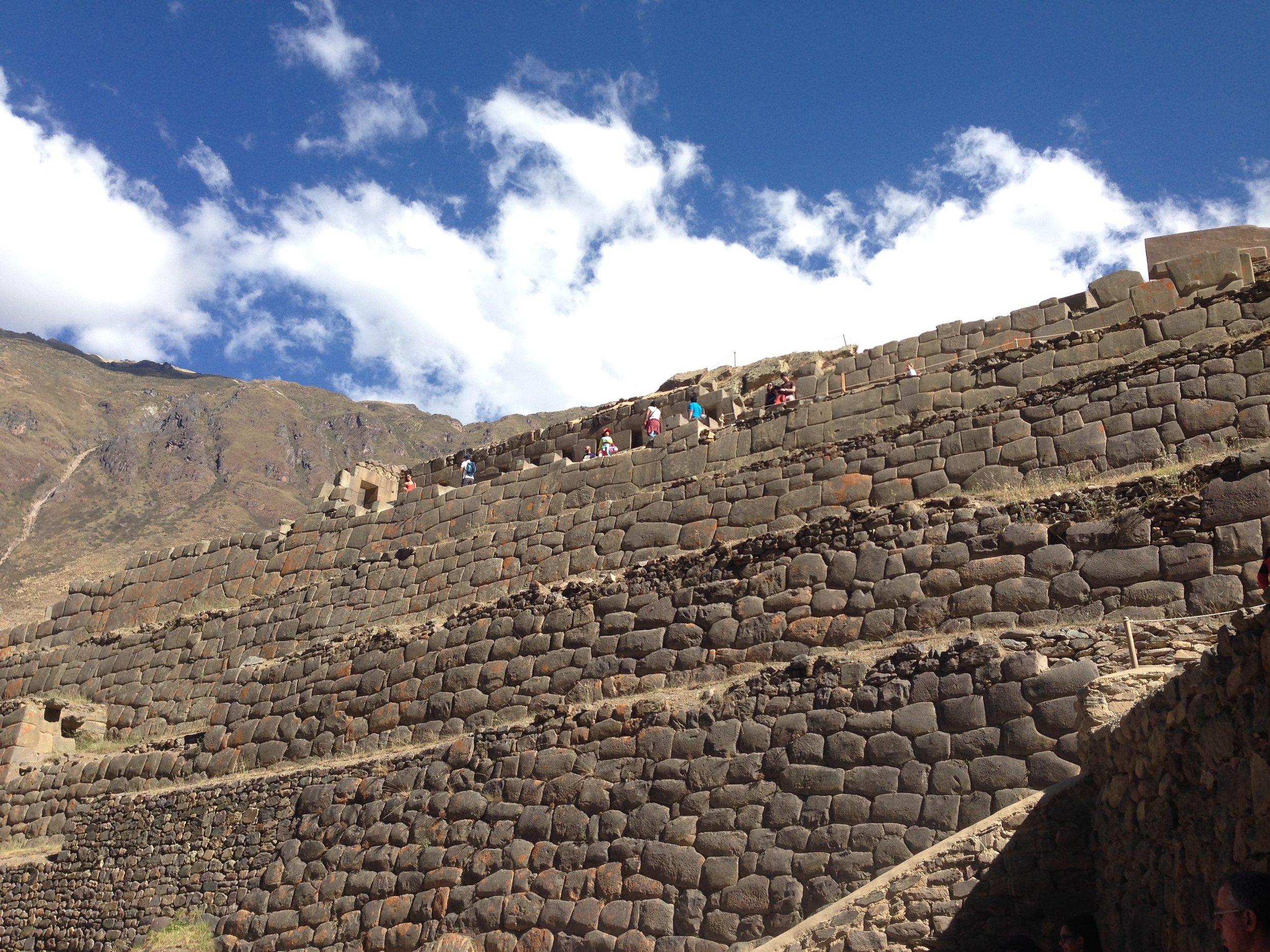 Inca terracing at Ollantaytambo
