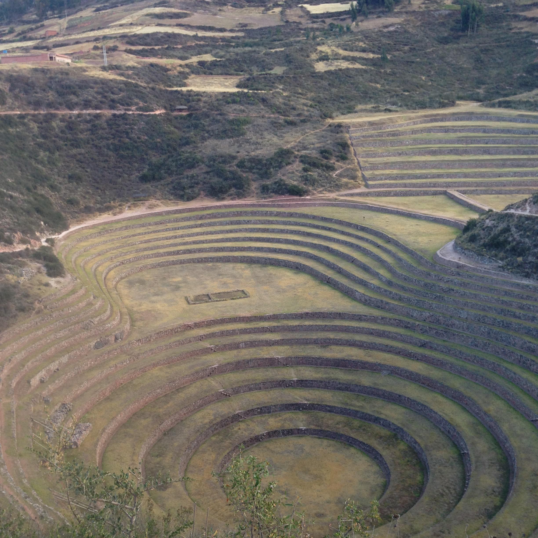 Terraced Inca Ruins at Moray
