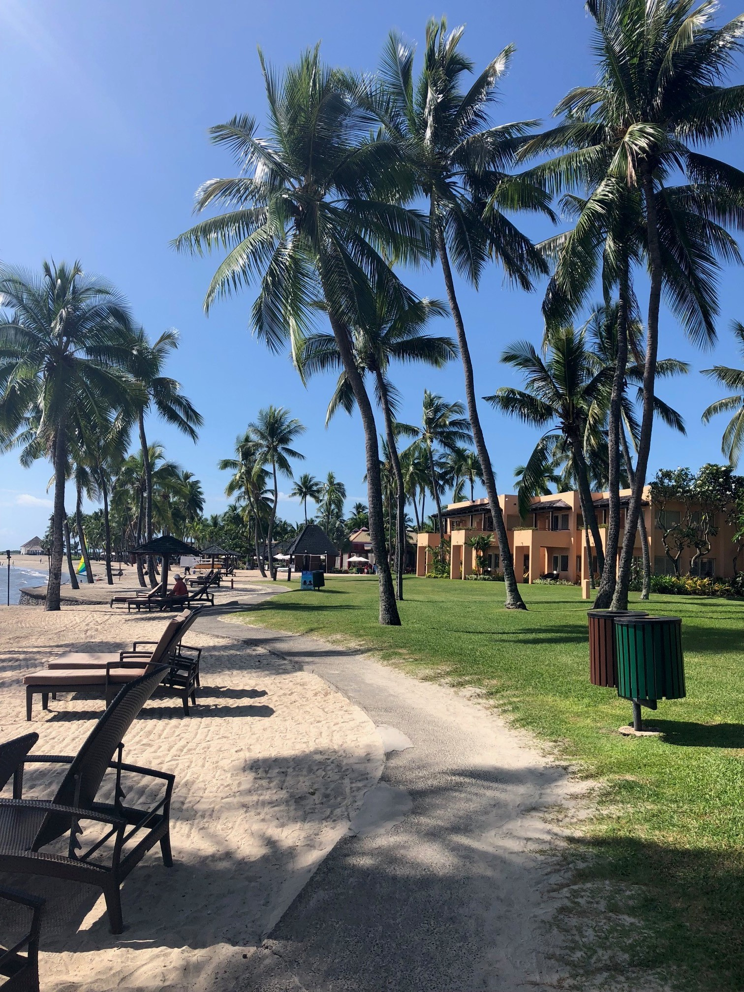 The beach at the Sheraton Denarau