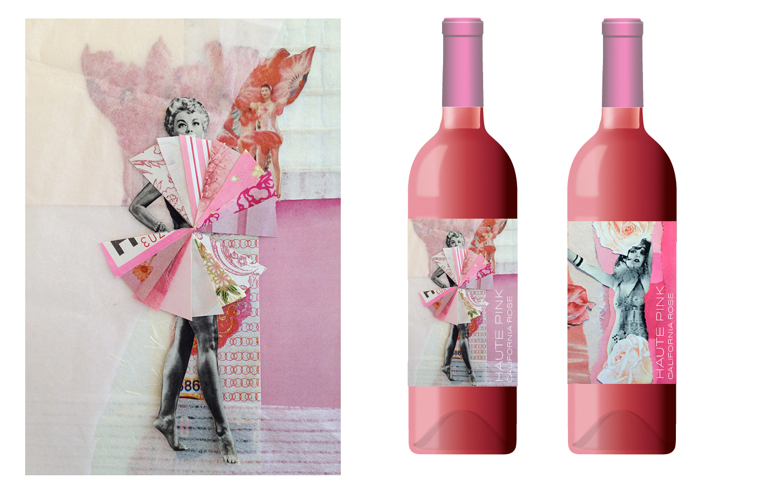 California Haute Pink Rosé wine label.