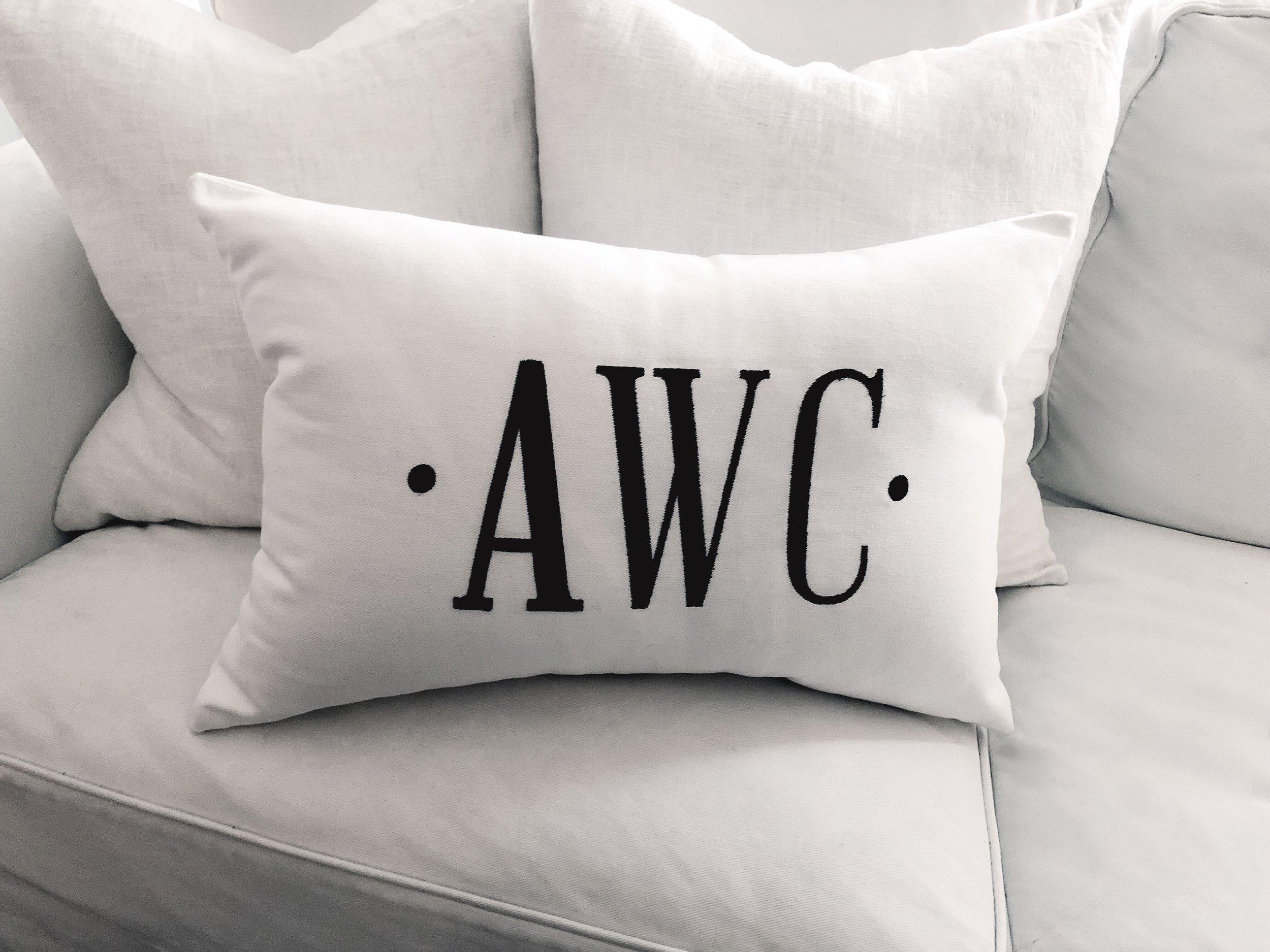 Custom Initials Pillow Verge Of