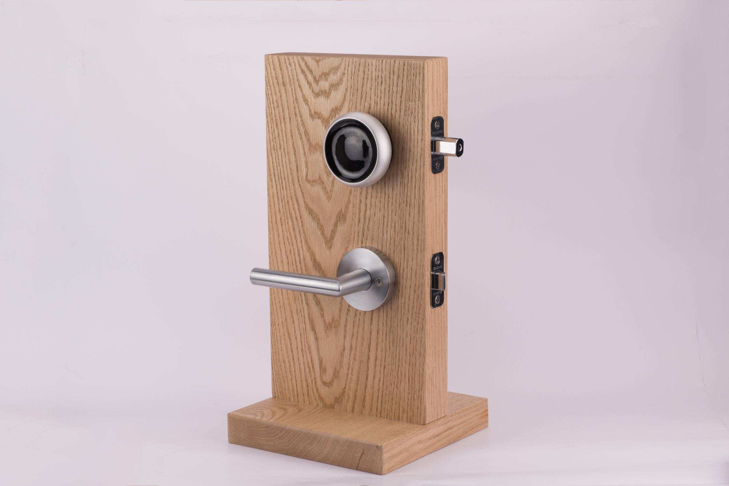 Den fysiske delen av det ene prosjektet som er en ny type smart lås som er mer robust en sine konkurrenter.