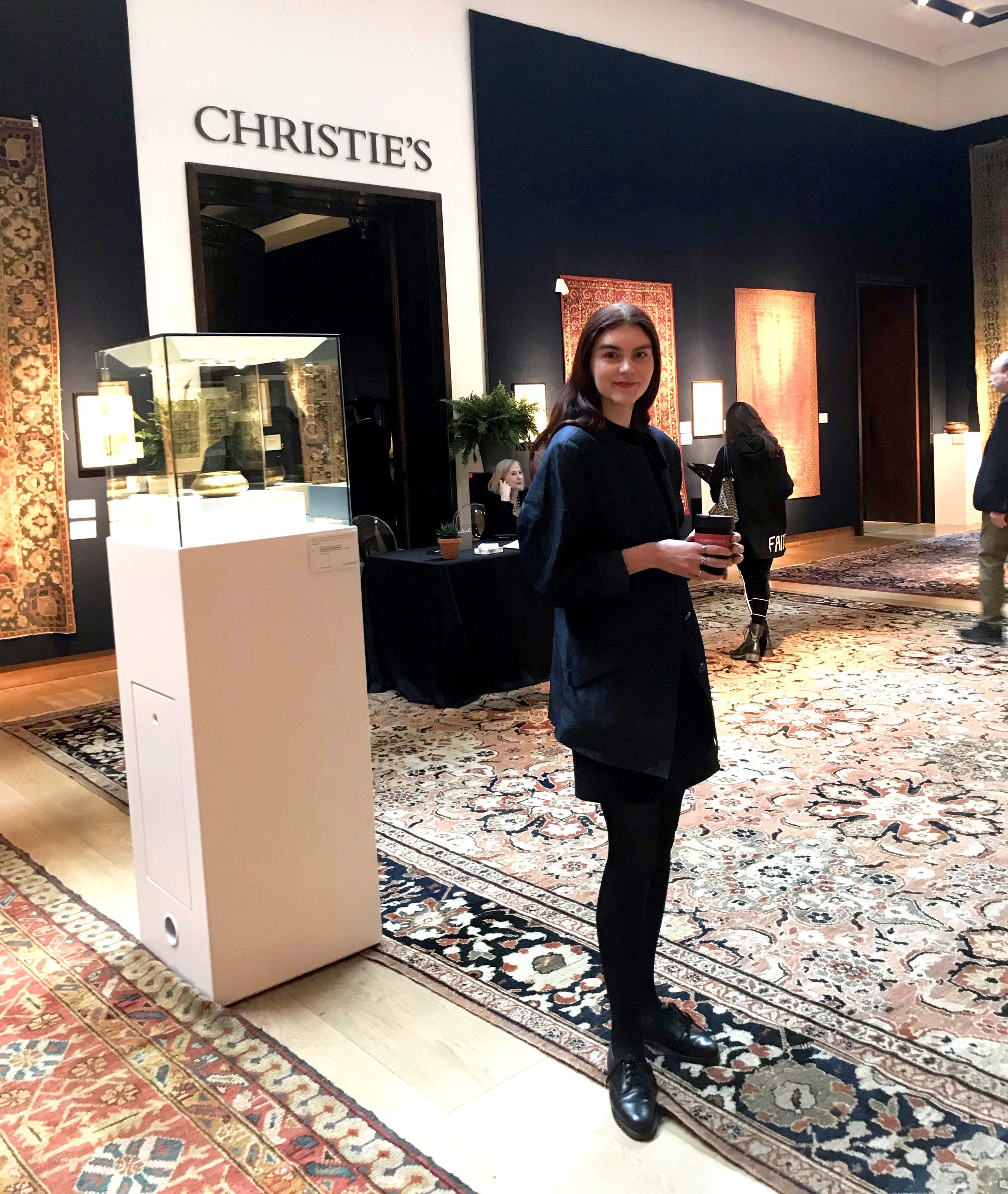Hos Christie's. Foto: Privat