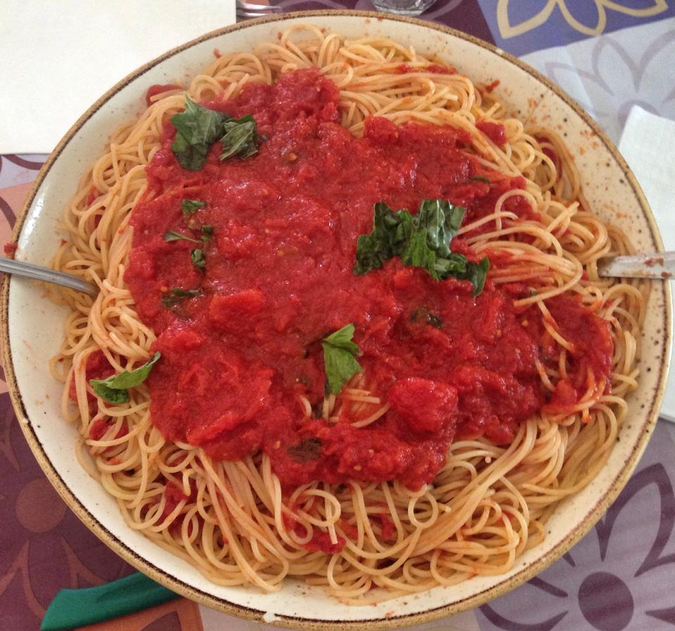 Spaghetti with our tomato sauce