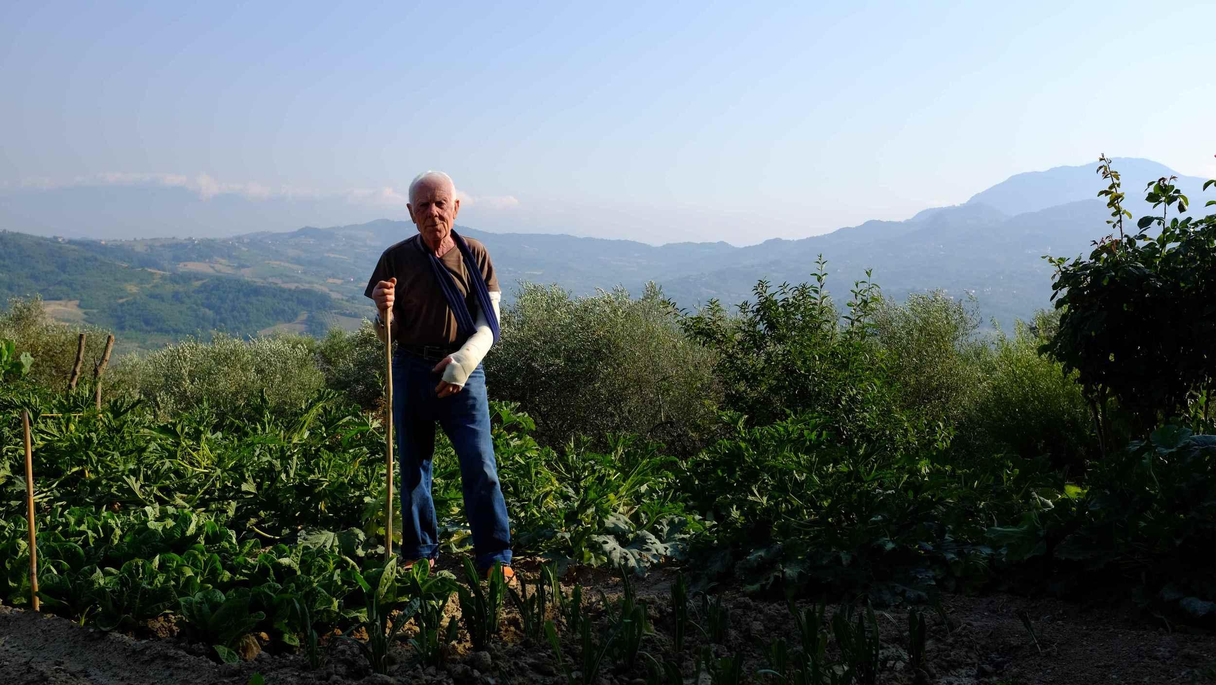Nonno Gaetano in the garden