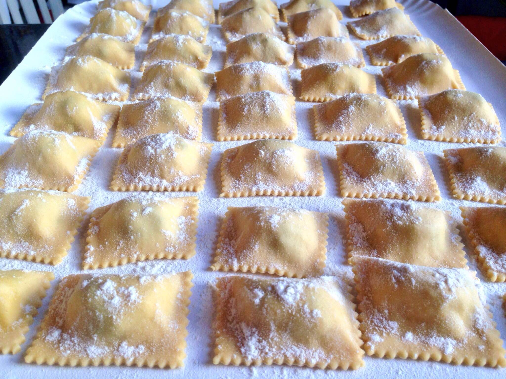Potato, pancetta & chestnut tortelli