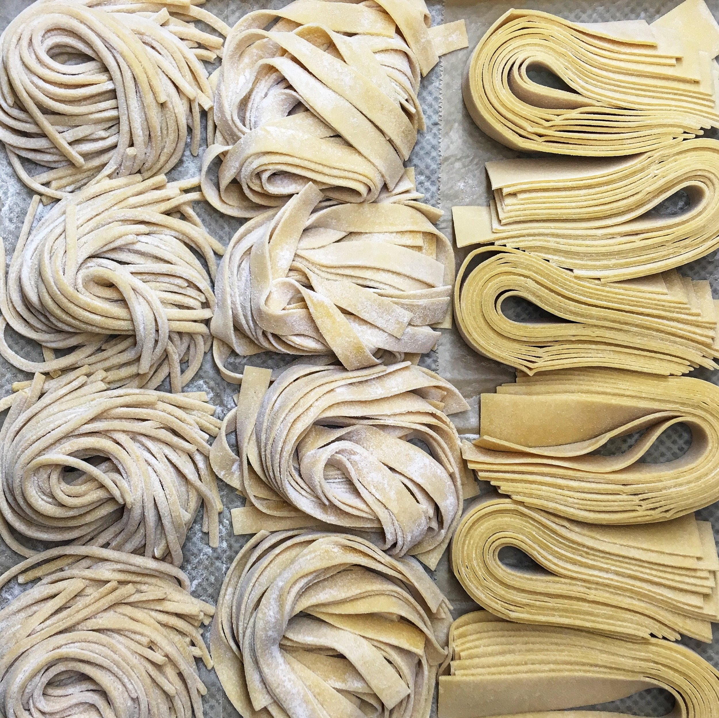 We make pasta fresh every morning