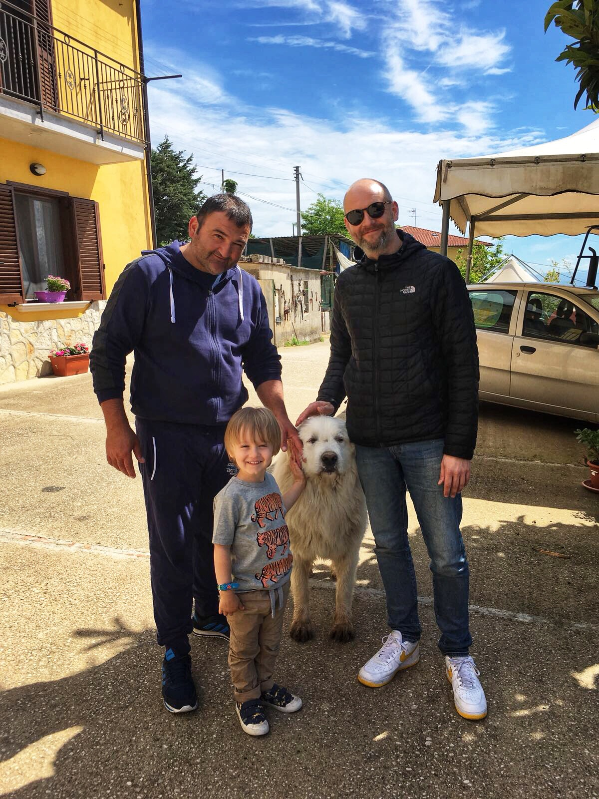 Raphael & Harry with Pierpaulo at his farm