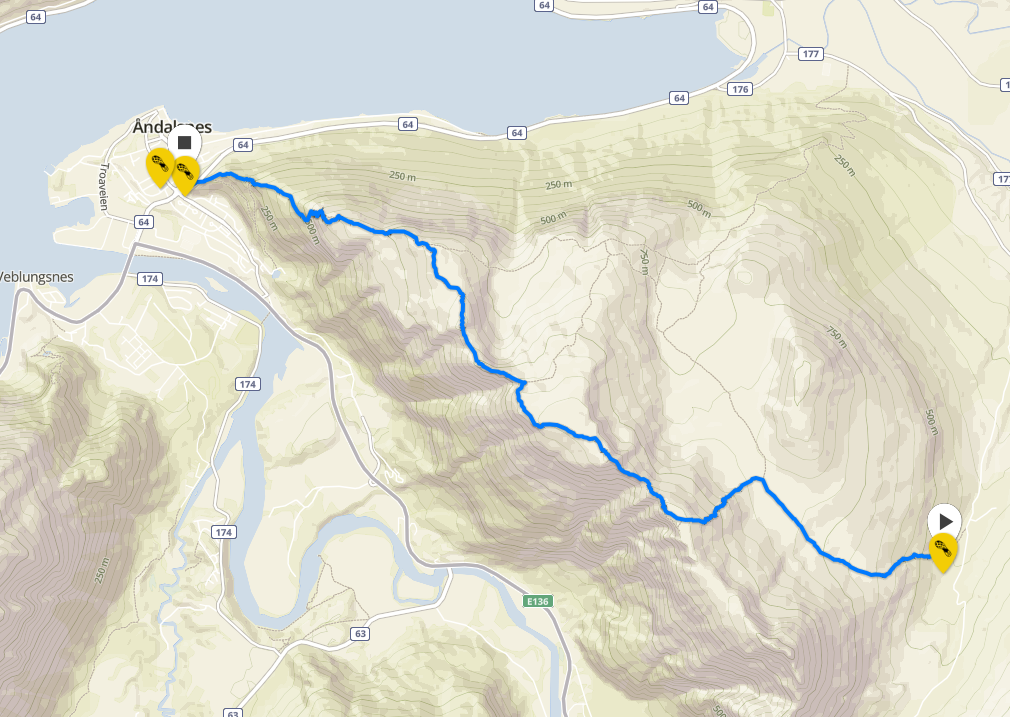 You can open the route in Suunto Movescount by clicking the picture