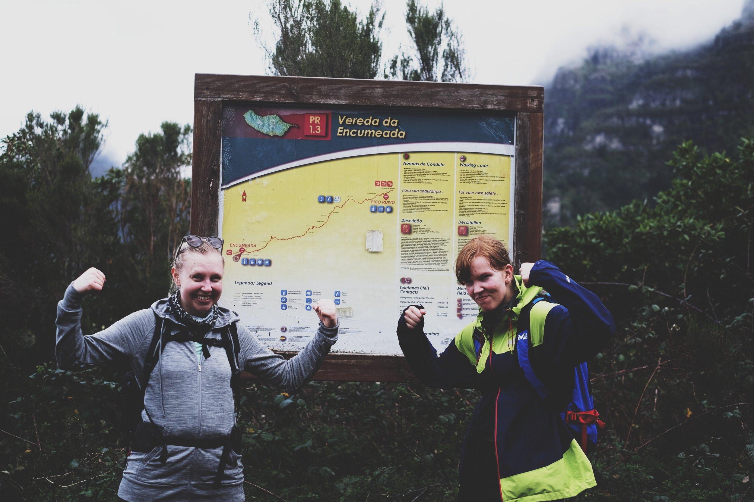 My trusty traveling companions  Kopisto &  Annamannaa after finishing the hike