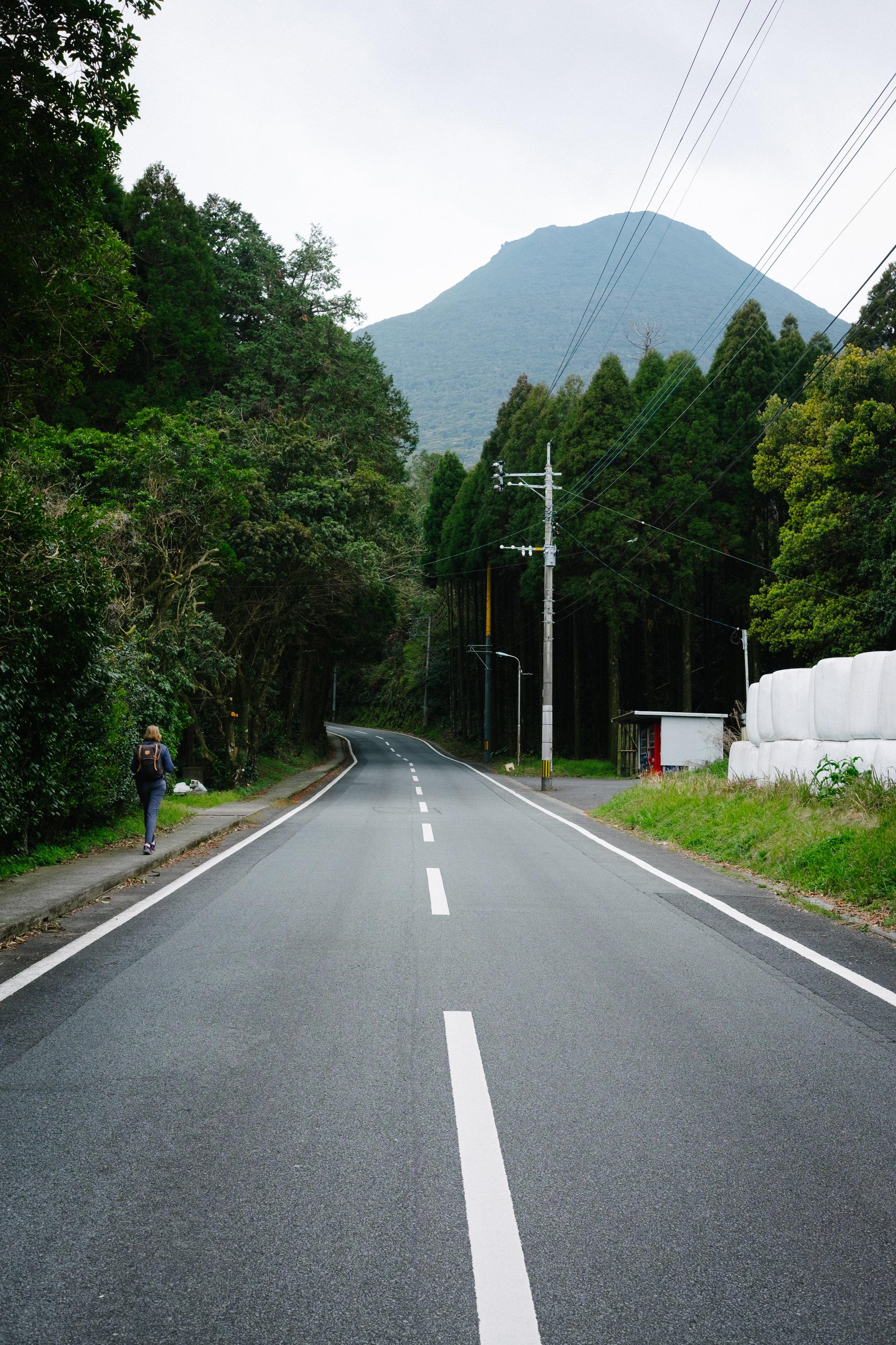 Approaching Kaimondake Volcano