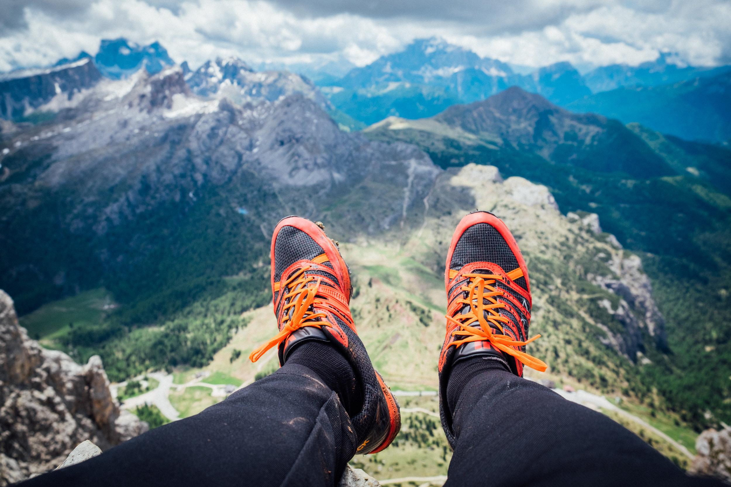 Irock 2 up in the Italian Dolomites