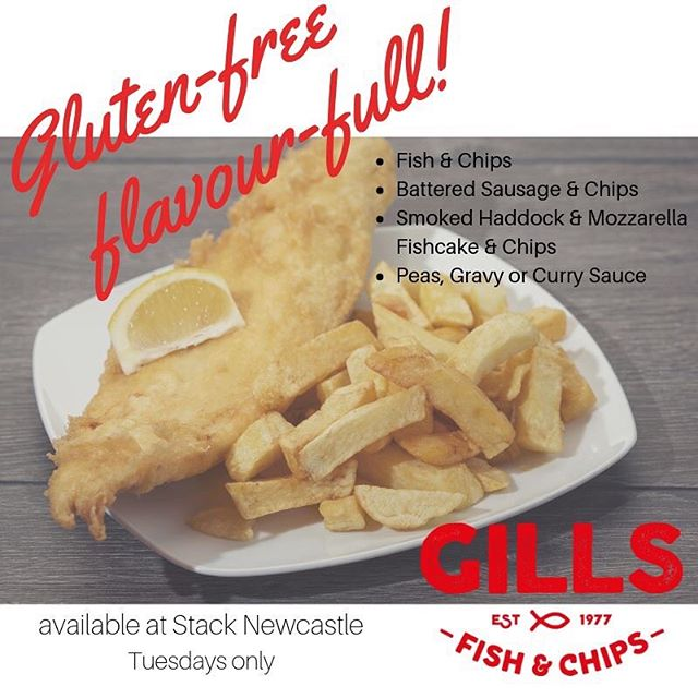 Pop along for your gluten-free goodies today #stacknewcastle #glutenfree #glutenfreechippy