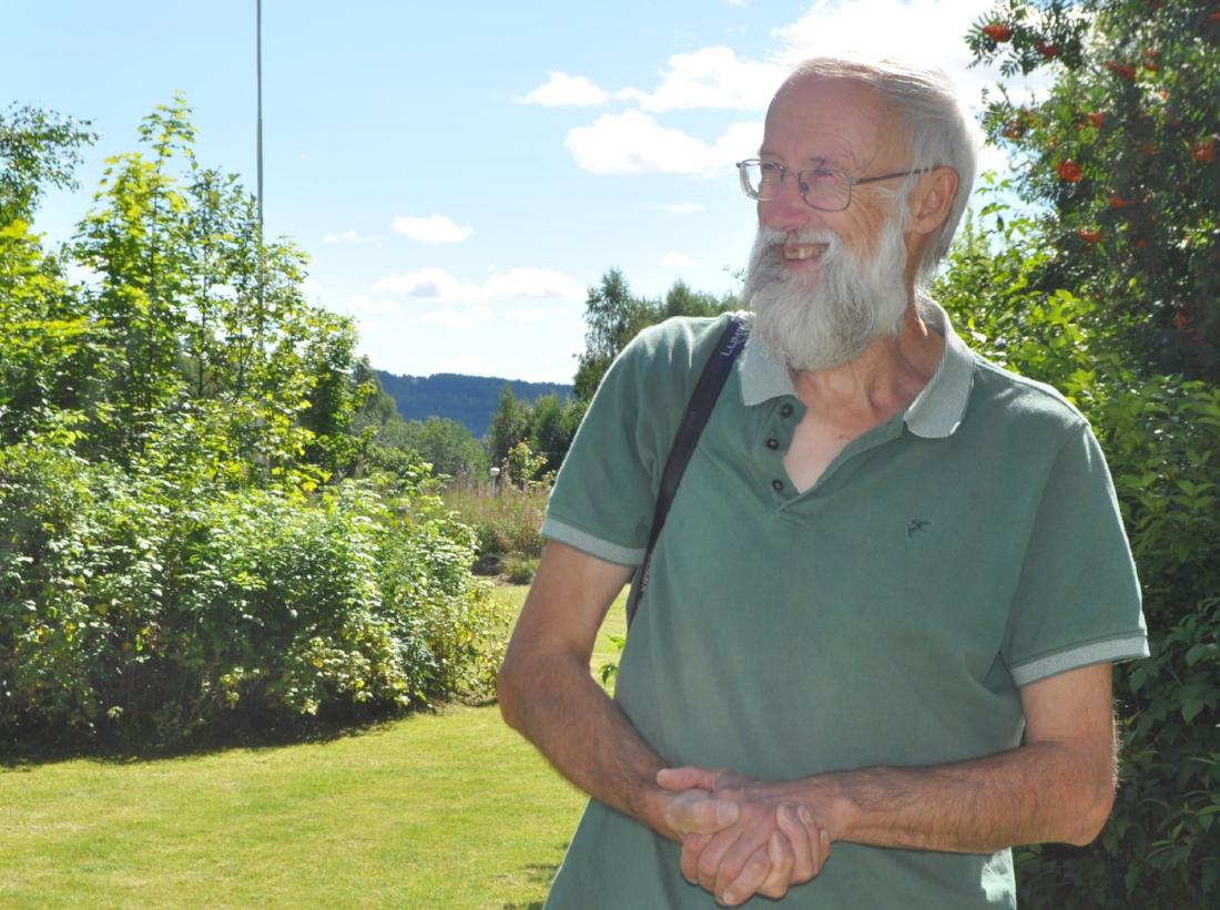 Forelsket: Planteguru Stephen Barstow synes at Hurdal er fortryllende.
