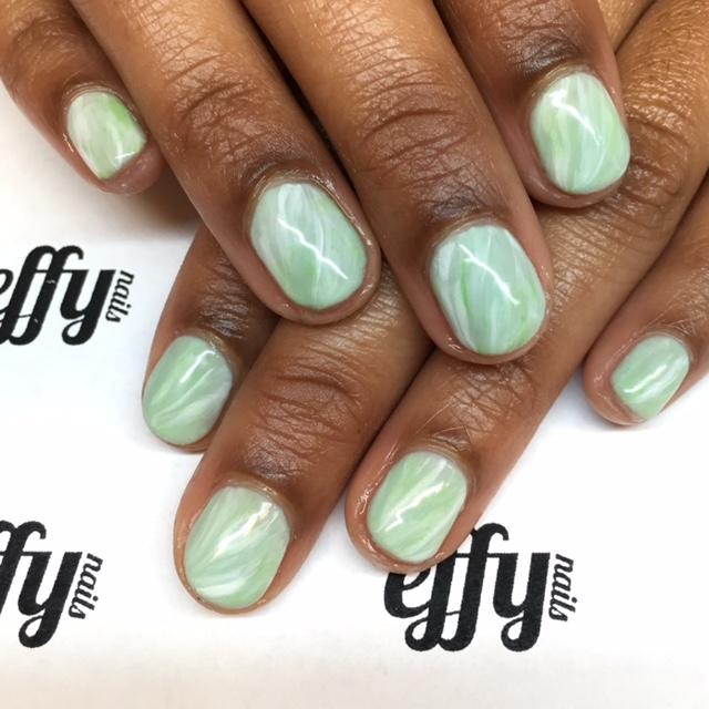 Jade nails using Shellac