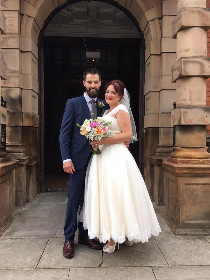 Our bride Claire who had seen this dress online, at the time we didn't carry it so we arranged the loan service for her.