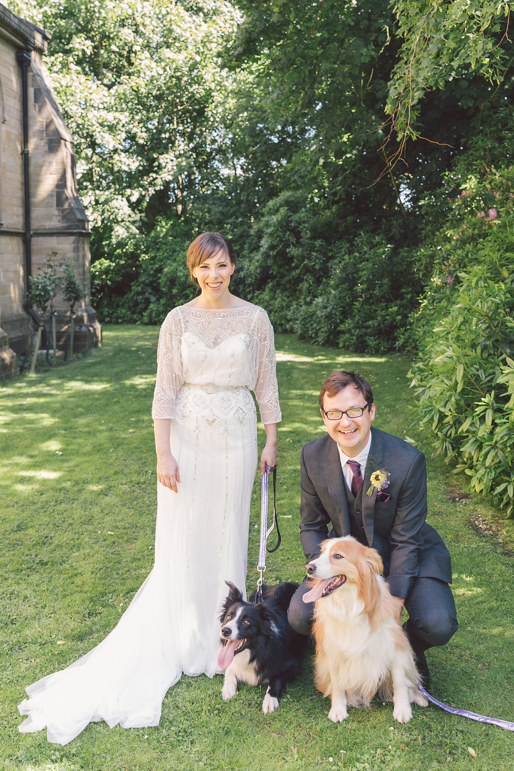 One of our gorgeous brides and her dashing husband - Emma and Alex  Photographer -  Eve Photography