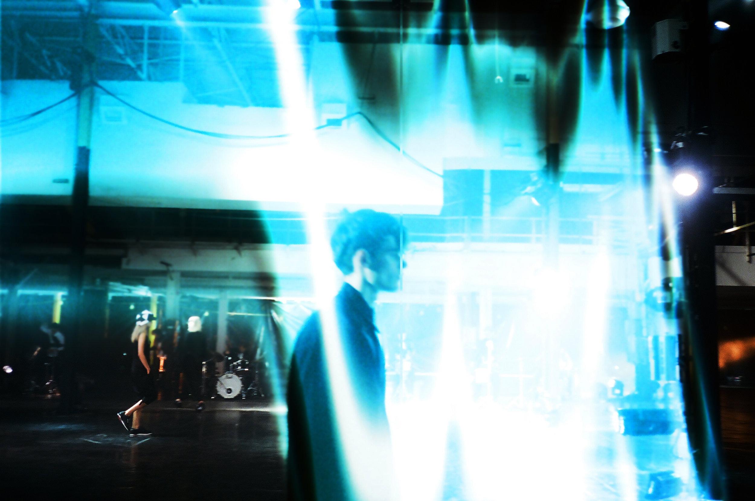 Walking into the Blue Light y-3 Yohji Yamamoto NYFW Photo for The New Yorker by Robin Siegel.jpg