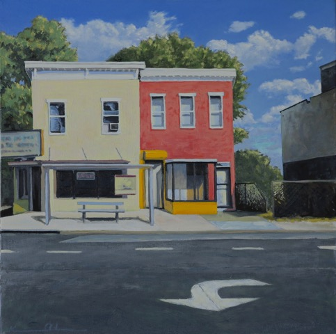 Turn Lane - 20 x 20 - Oil on Canvas