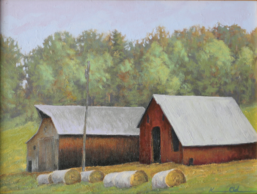 Two Barns   19 x 12   Oil on Canvas SOLD